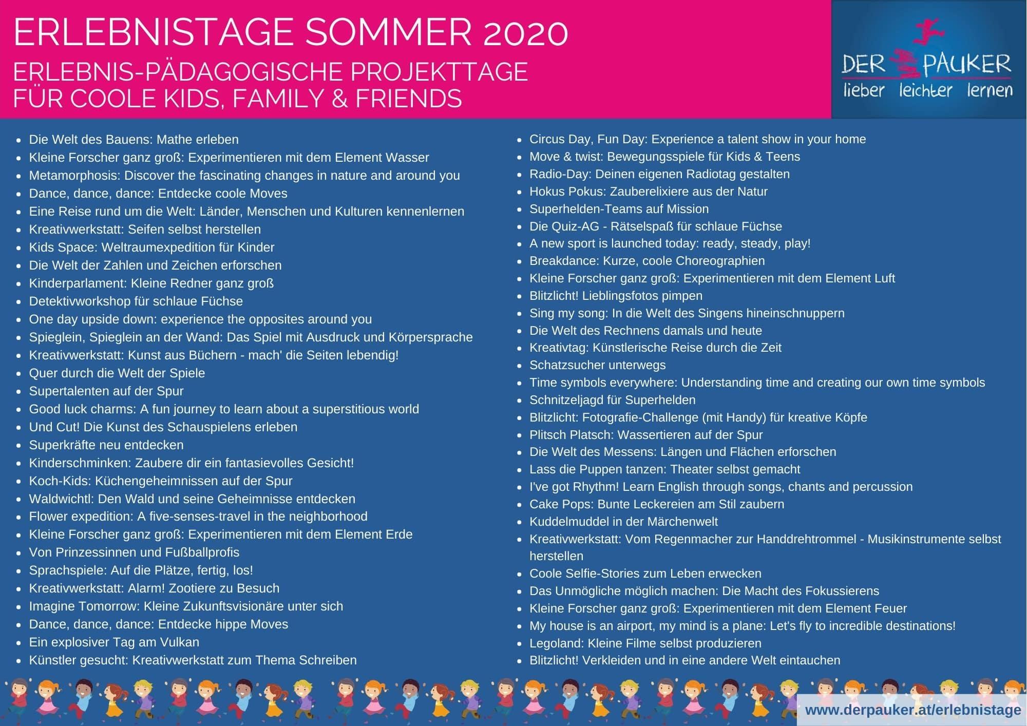 Erlebnistage-Themenliste-2020